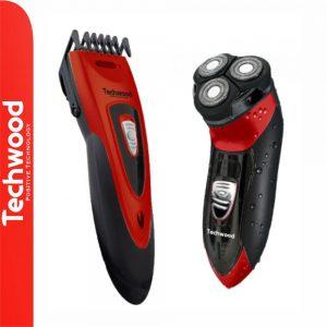Conjunto de Máquina de Barbear e Cortar Cabelo TECHWOOD - (TCO-2565)
