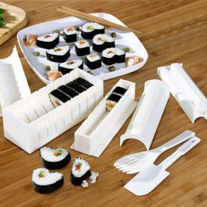 Conjunto 3 Moldes Sushi Matik C/ Acessórios - (INVG141)