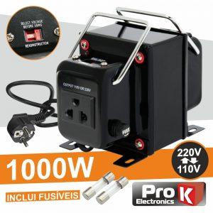 Conversor 110v-220v / 220v-110v 1000W PROK - (CONV1000W)