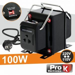 Conversor 110v-220v / 220v-110v 100W - (CONV100W)