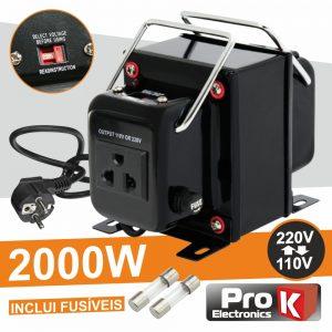 Conversor 110v-220v / 220v-110v 2000W PROK - (CONV2000W)