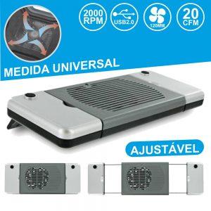 Base De Refrigeração P/ Portátil Universal USB - (COOLINGPAD02)