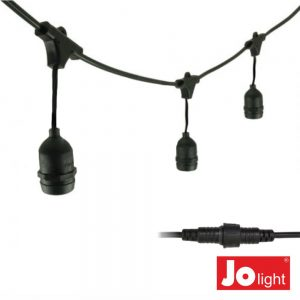 Corrente De Iluminação 10mt P/ Lâmpadas E27 IP44 JOLIGHT - (23-090/10)