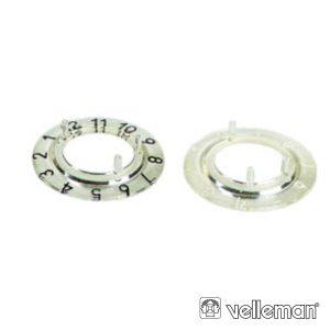 Escala Numérica P/ Botão 21mm Transparente C/ 12 Dígitos - (CP21TW12)