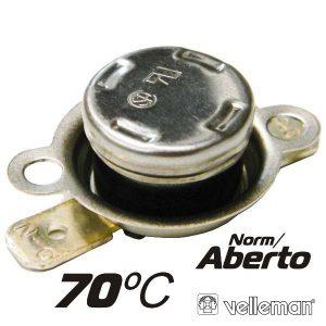 Protector De Circuito Térmico Norm/Aberto 70ºc VELLEMAN - (CPA70)