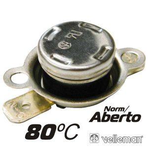 Protector De Circuito Térmico Norm/Aberto 80ºc VELLEMAN - (CPA80)