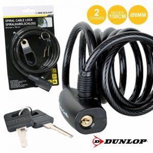 Cadeado Espiral 1.5m 8mm Dunlop - (CS8M)