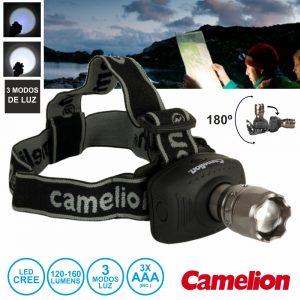 Lanterna De Cabeça 1 LED 120-160lm Zoom - (CT-4007)