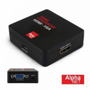 Conversor HDMI -> VGA C/ Áudio Amplificado Alphanet - (CT356/6)