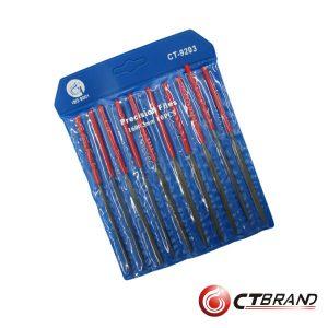 Conjunto De 10 Limas 3x160mm Ctbrand - (CT-9203)