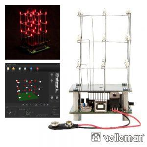 Cubo LED 3d C/ 27 LEDS Até 234 Animações VELLEMAN - (MK193)