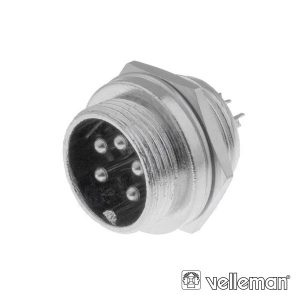 Conector Macho 5p P/ Chasis VELLEMAN - (CUC5)