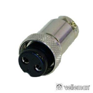 Ficha Microfone 2p Fêmea De Extensão VELLEMAN - (CUF2)