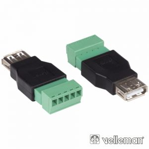 Ficha USB-A Femea Terminal De Parafuso C/ 5 Pinos 2x - (CV052)