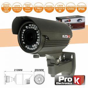 Câmara Vigilância 4in1 Analog/Ahd/Cvi/TVi 1.3mp Ip66 PROK - (CVC090LA)