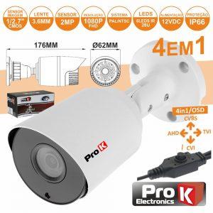 Câmara Vigilância 4in1 Ahd/Cvi/TVi/Cvbs 2mp Ip66 PROK - (CVC101LA)