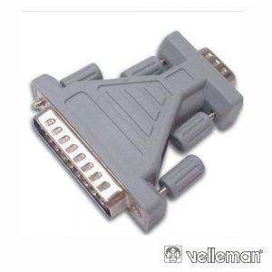 Ficha Adaptadora D-Sub 9p Macho / D-Sub 25p Macho - (CW034)