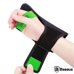 """Braçadeira P/ Smartphone Até 5"""" C/ Auriculares Verde BASEUS - (CWYD-A06)"""