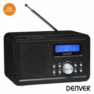 Rádio AM/FM C/ Alarme 2W DENVER - (DAB-35BLACK)