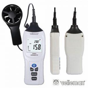 Mini Termómetro Anemómetro Digital VELLEMAN - (DEM401)