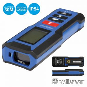 Medidor De Distâncias Digital C/ Laser 30m VELLEMAN - (DEM701)
