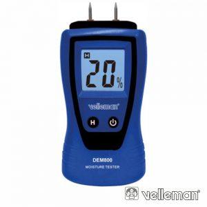 Mini Medidor De Húmidade P/ Madeira E Material Construção - (DEM800)