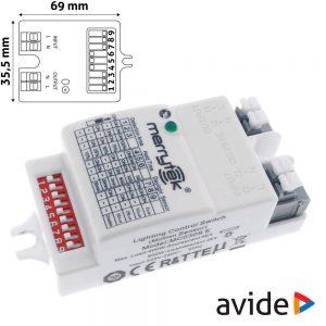 Detector de Movimentos Micro-Ondas p/ Painel LED IP66 AVIDE - (ACLO-SENSOR2)