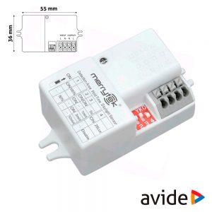 Detector De Movimentos Micro-Ondas P/ Painel LED Ip66 AVIDE - (ACL-IP66-SENSOR)