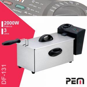 Fritadeira A Óleo Elétrica Inox 2000W 3l PEM - (DF-131)