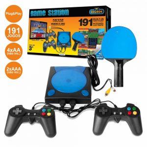 Máquina De Jogos C/ 2 Comandos + Raquete E 191 Jogos Arcade - (DGUN-2558)