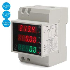 Medidor Digital Voltímetro Amperímetro P/ Montagem Calha - (DIN-2047)