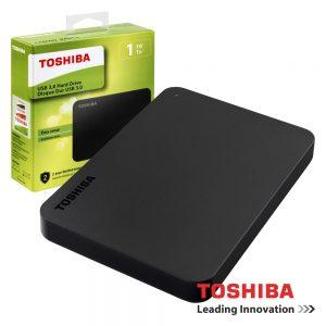 "Disco Externo HDD TOSHIBA CANVIO BASICS 1TB 2.5"" USB3.0 - (HDTB410EK3AA)"