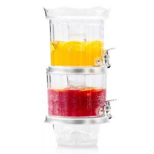 Dispensador de Bebidas Duplo c/ Depósito de Gelo e Bandeja - (INVG237)