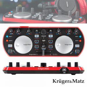 Controlador DJ Compacto USB Duplo Kruger Matz - (DJ-001)
