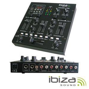Mesa De Mistura 3 Canais 5 Entradas USB/SD IBIZA - (DJM200USB)