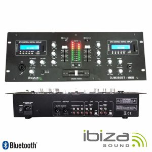 Mesa De Mistura 2 Canais 7 Entradas USB/BT/SD IBIZA - (DJM250BT-MKII)