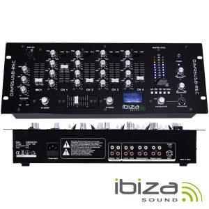 Mesa De Mistura 4 Canais 6 Entradas USB/Gravação/SD IBIZA - (DJM95USB-REC)