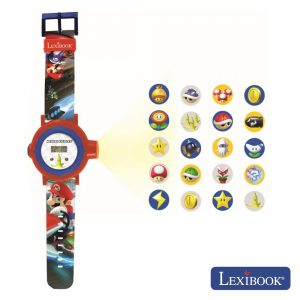 Relógio de Pulso C/ 20 Projeções MarioKart LEXIBOOK - (DMW050NI)