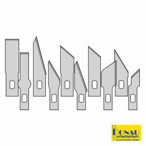 Conjunto 10 Lâminas Precisão P/ X-Ato Ms01/13/15 Donau - (DNMS10)