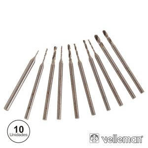 Conjunto De 10 Mini Brocas VELLEMAN - (DRILLSET1)