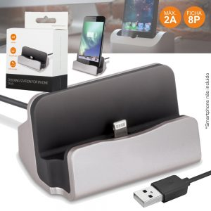 Estação Dock USB P/ Iphone 5/5s/6/6s/7 C/ Ficha 8p - (DS-01S)