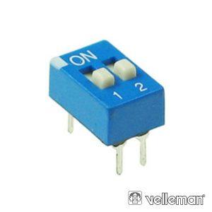 Interruptor Dip 2 Posições VELLEMAN - (DS-2)