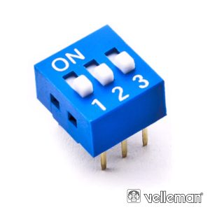 Interruptor Dip 3 Posições VELLEMAN - (DS-3)