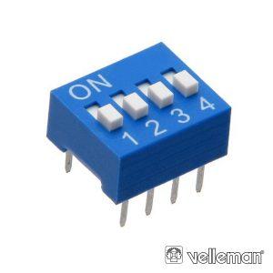 Interruptor Dip 4 Posições VELLEMAN - (DS-4)