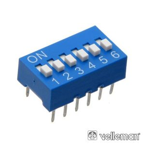 Interruptor Dip 6 Posições VELLEMAN - (DS-6)