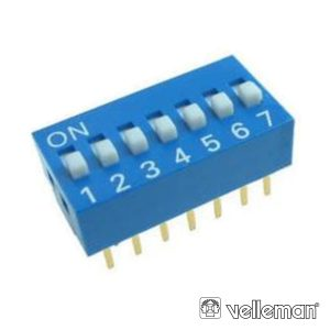 Interruptor Dip 7 Posições VELLEMAN - (DS-7)