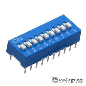 Interruptor Dip 9 Posições VELLEMAN - (DS-9)