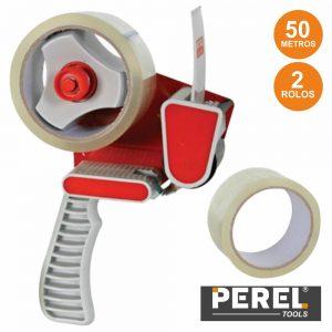Dispensador De Fita-Cola C/ 2 Rolos 50m  Perel - (DTDIS2T)