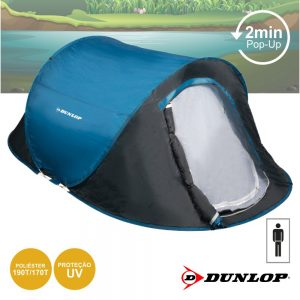 Tenda Campismo P/ 1 Pessoa 220x120x90 Dunlop - (DUN596)