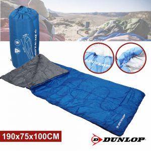 Saco Cama Campismo 190x75x100 Azul Dunlop - (DUN204)